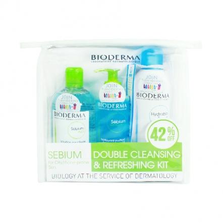 Bioderma Sebium Double Cleansing & Refreshing Kit