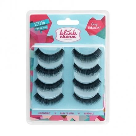 Blink Charm Eyelashes Sexy Volume No. 1 - 4 Pairs