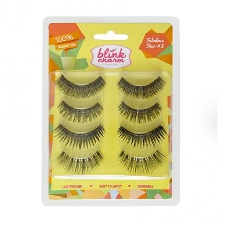 Blink Charm Eyelashes Fabulous Four No. 3 - 4 Pairs