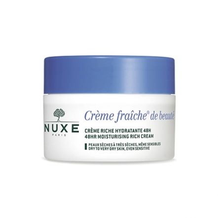 Crème Fraîche de Beauté Enrichie Soothing and Moisturizing Rich Cream  for Dry to Very Dry Skin (48h)