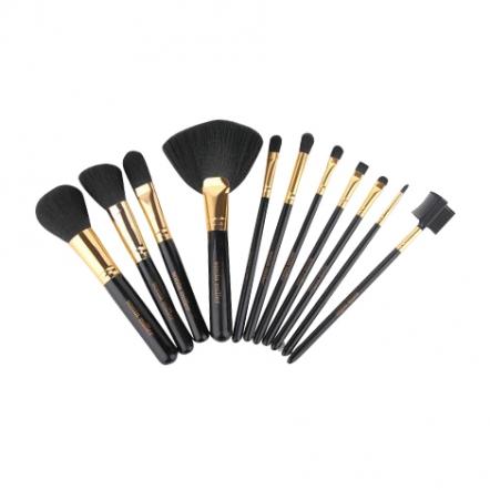 Sonia Miller Cylinder Case SBS002Bk-11 Polka Brush Set