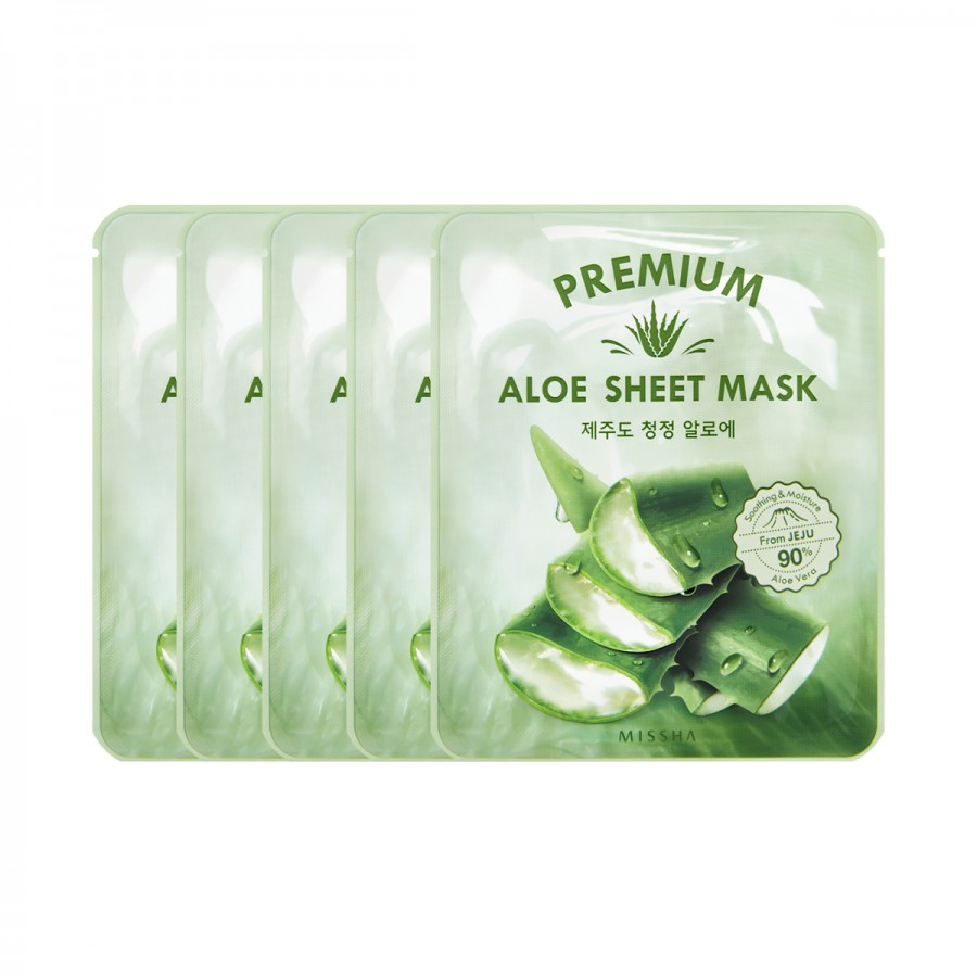 Missha Premium Aloe Sheet Mask (5 pcs)