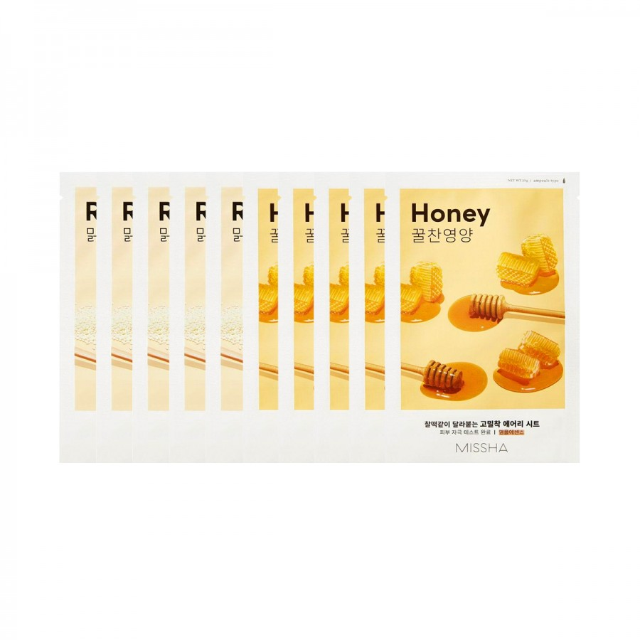 Airy Fit Sheet Mask Rice & Honey 10Pc Set