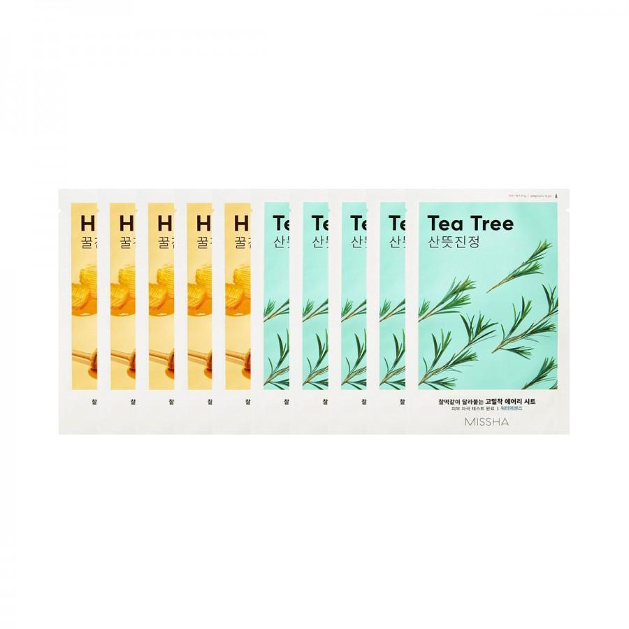Airy Fit Sheet Mask Honey & Tea Tree 10Pc Set