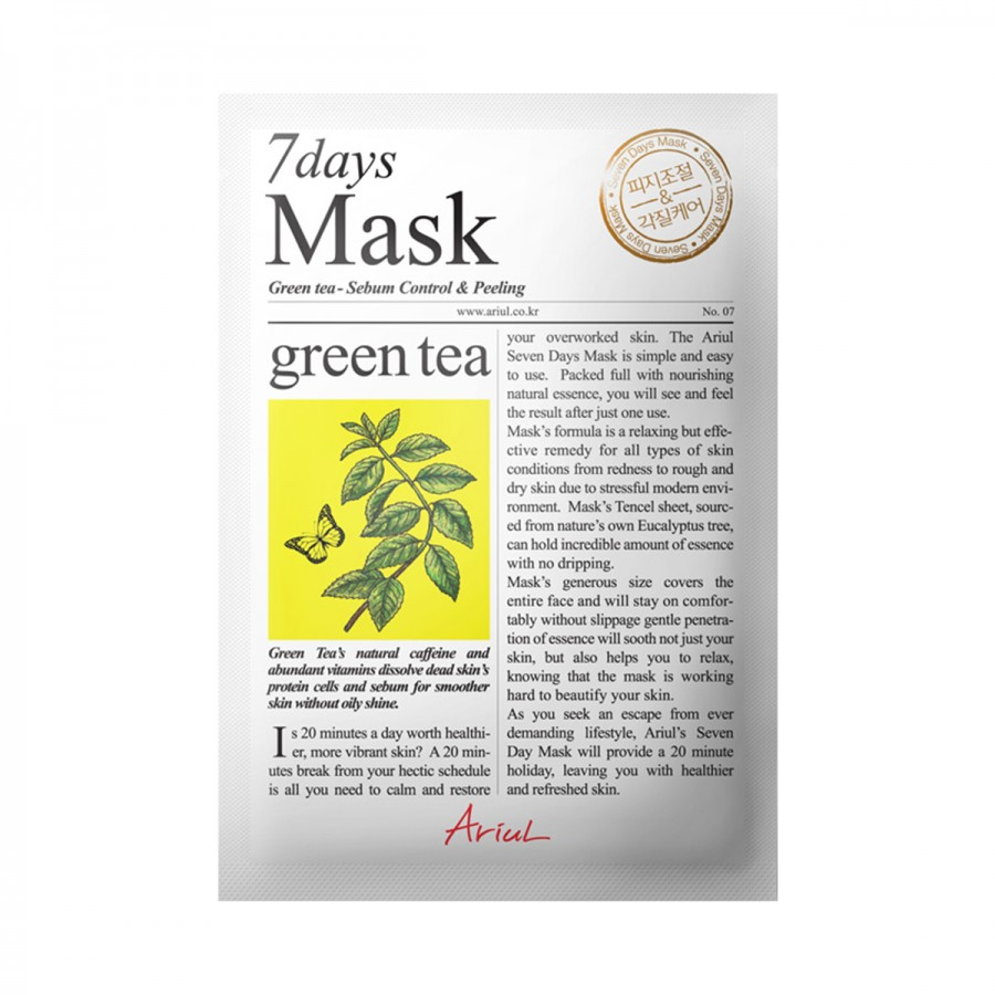 7days Mask - Green Tea