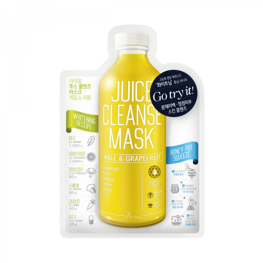 Juice Cleanse Mask - Kale & Grapefruit