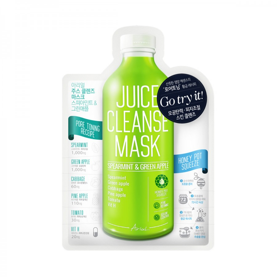 Juice Cleanse Mask - Spearmint & Greenapple