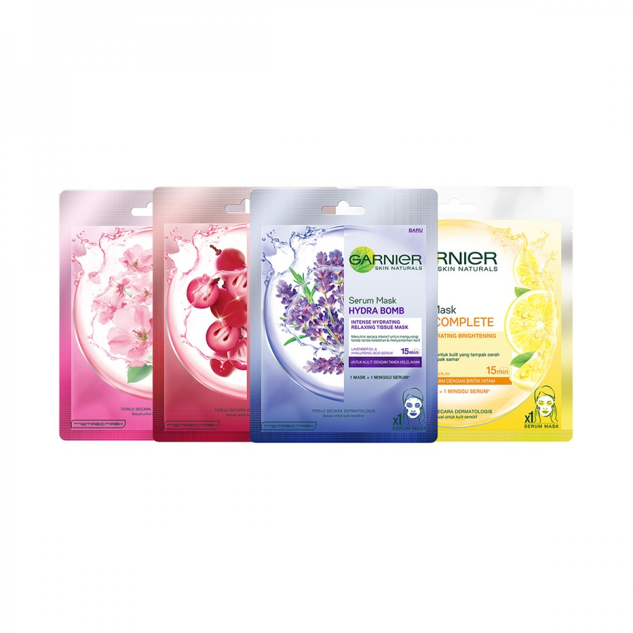 Garnier Pack of 4 - Glowing Mask Set