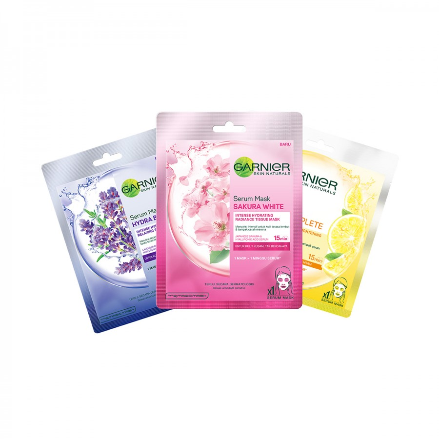 Garnier Pack of 3 - Glowing Mask Set
