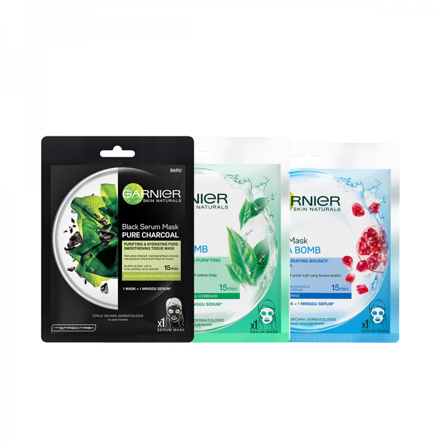 Garnier Pack of 3 - Purifying Mask Set