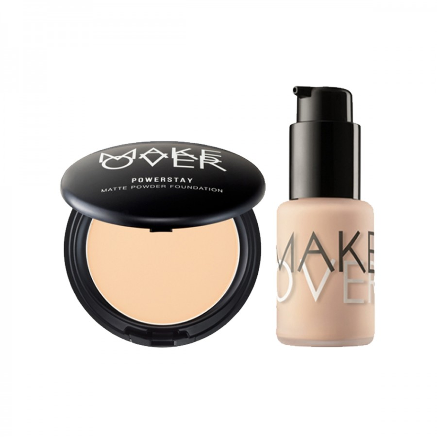 Ultra Cover Foundation + Powerstay Matte Powder Set