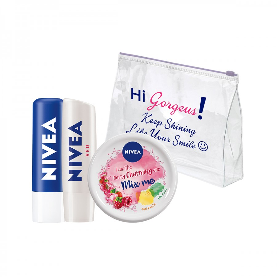 NIVEA PACKAGES with Transparent Pouch