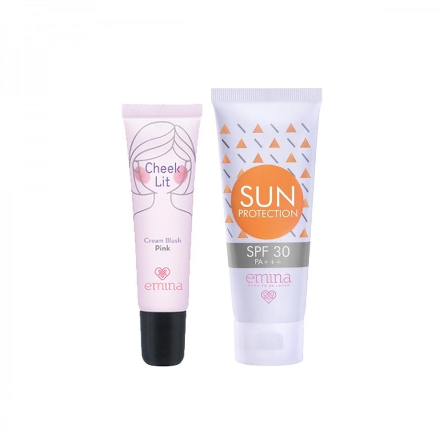Sun Protection + Cheeklit Blush Set