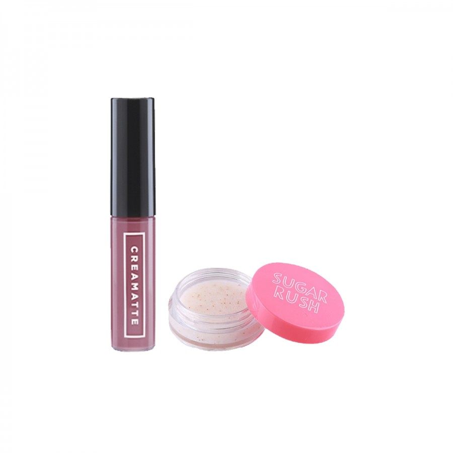 Creamatte Lipstick + Sugar Rush Lip Scrub Set