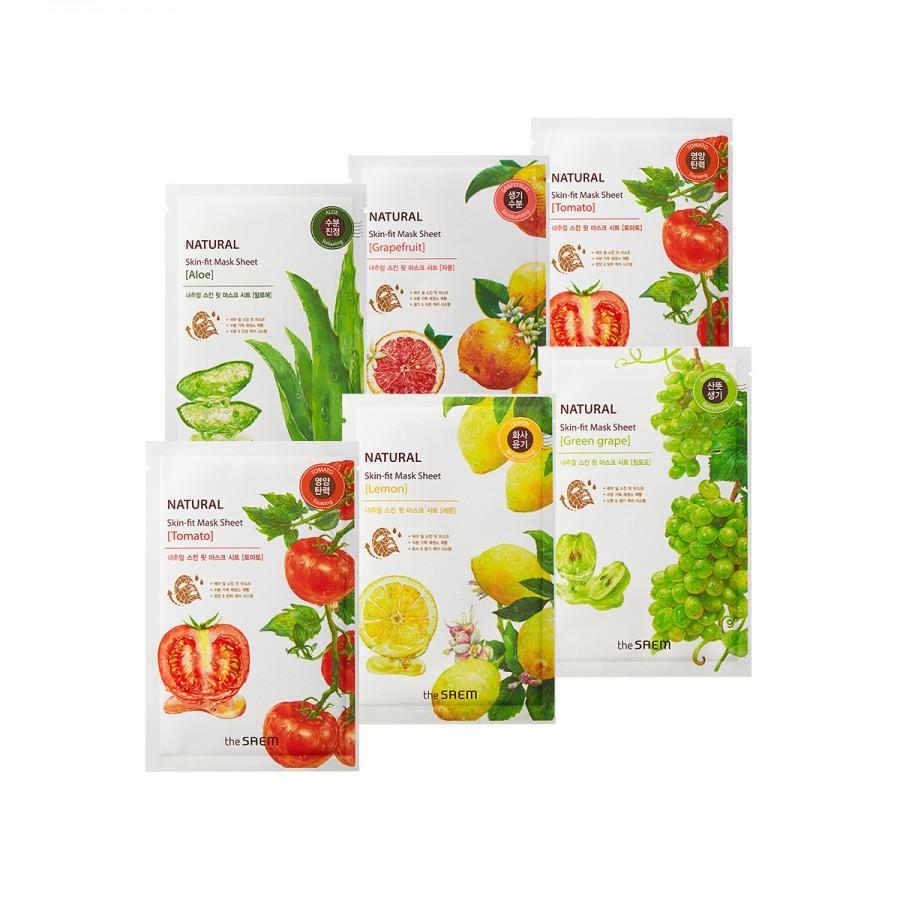 Natural Skin Fit Mask Sheet buy 3 get 3