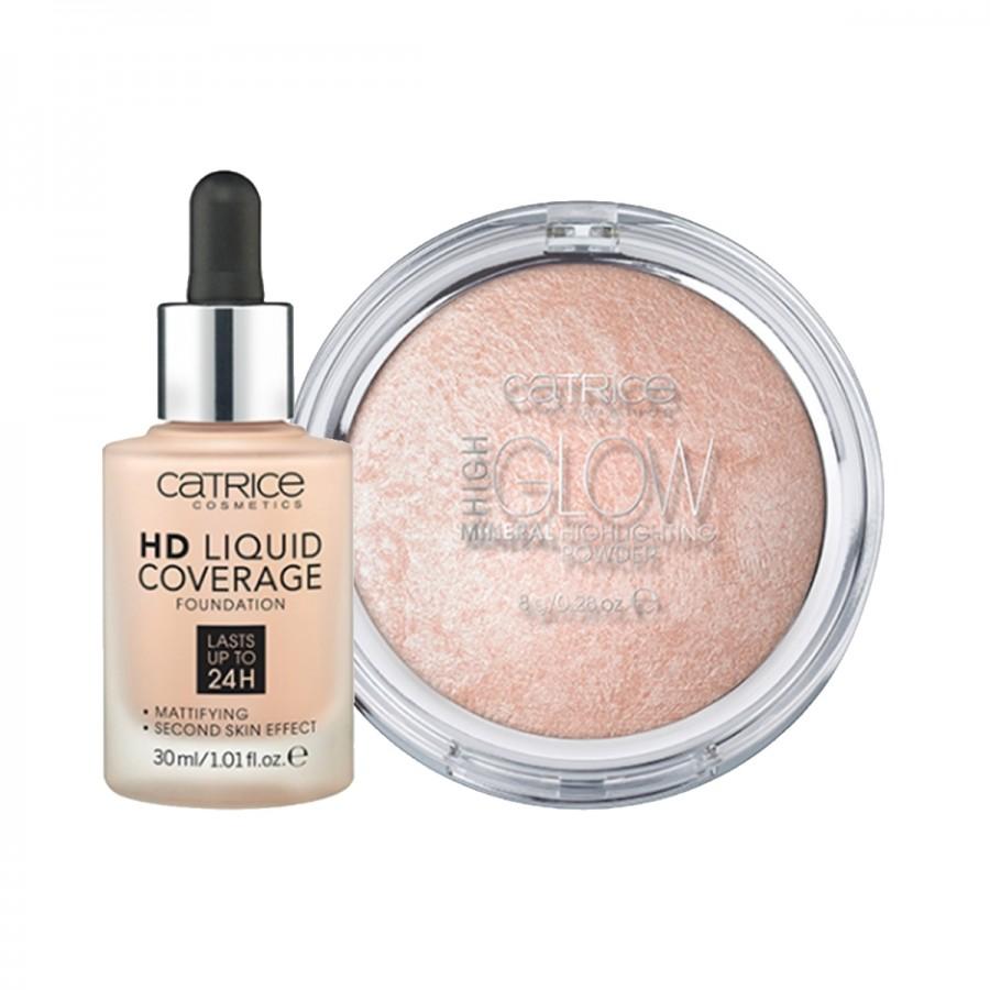 HD Liquid Foundation and Highlighting Powder