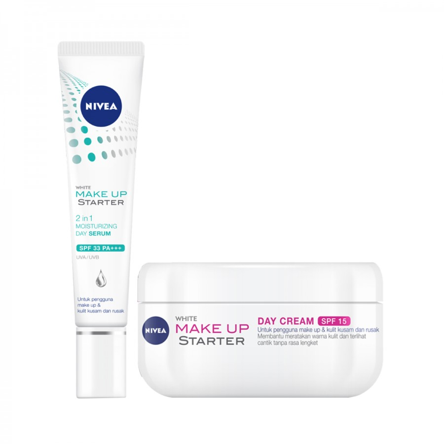NIVEA Face Care Make Up Starter Serum & Cream - Best Value Set