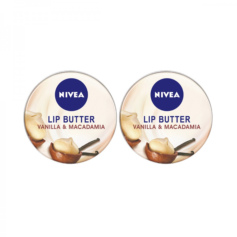 NIVEA Lip Butter Vanilla - Twin Pack