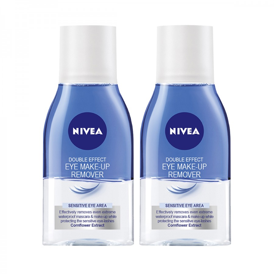 NIVEA Double Eye Make Up Remover 125ml - Twin Pack