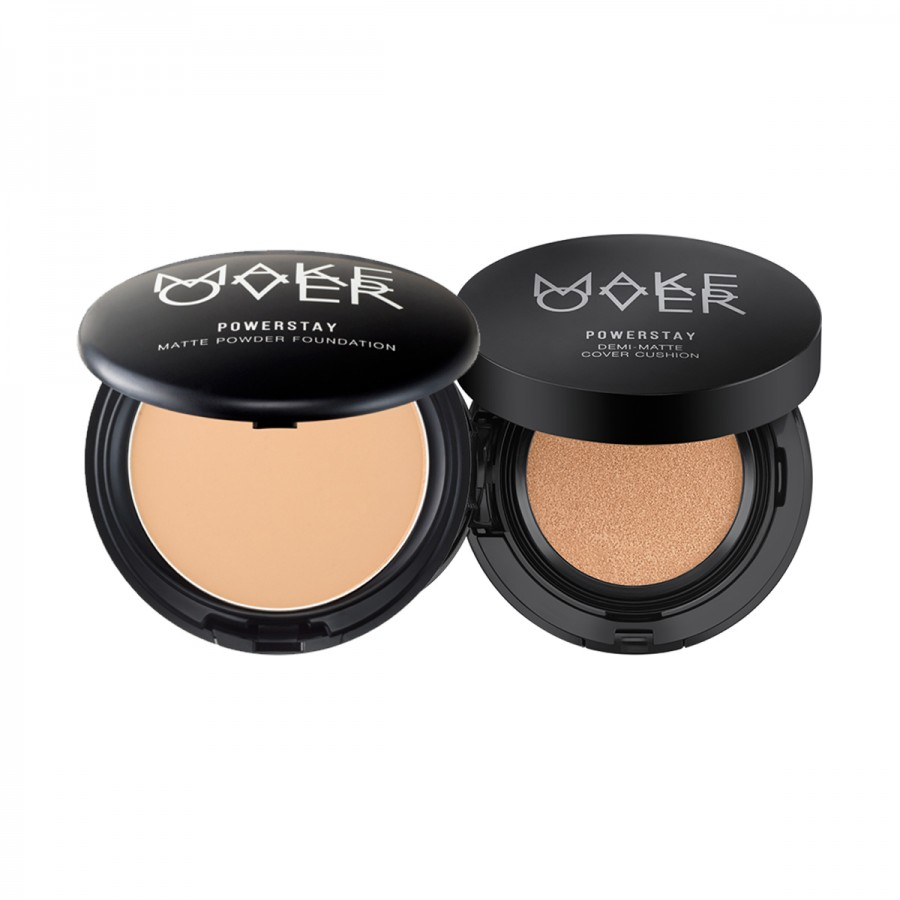 Powerstay Demi-Matte Cover Cushion and Powerstay Matte Powder Foundation
