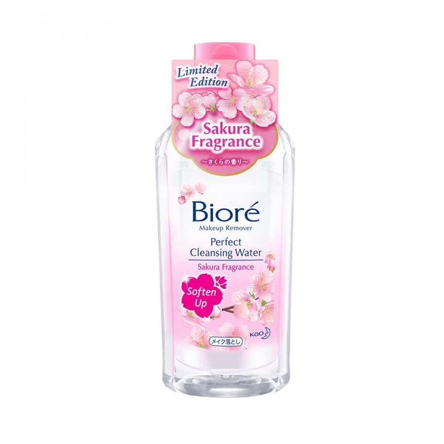 Biore Make Up Remover Cleansing Water Soften Up Sakura