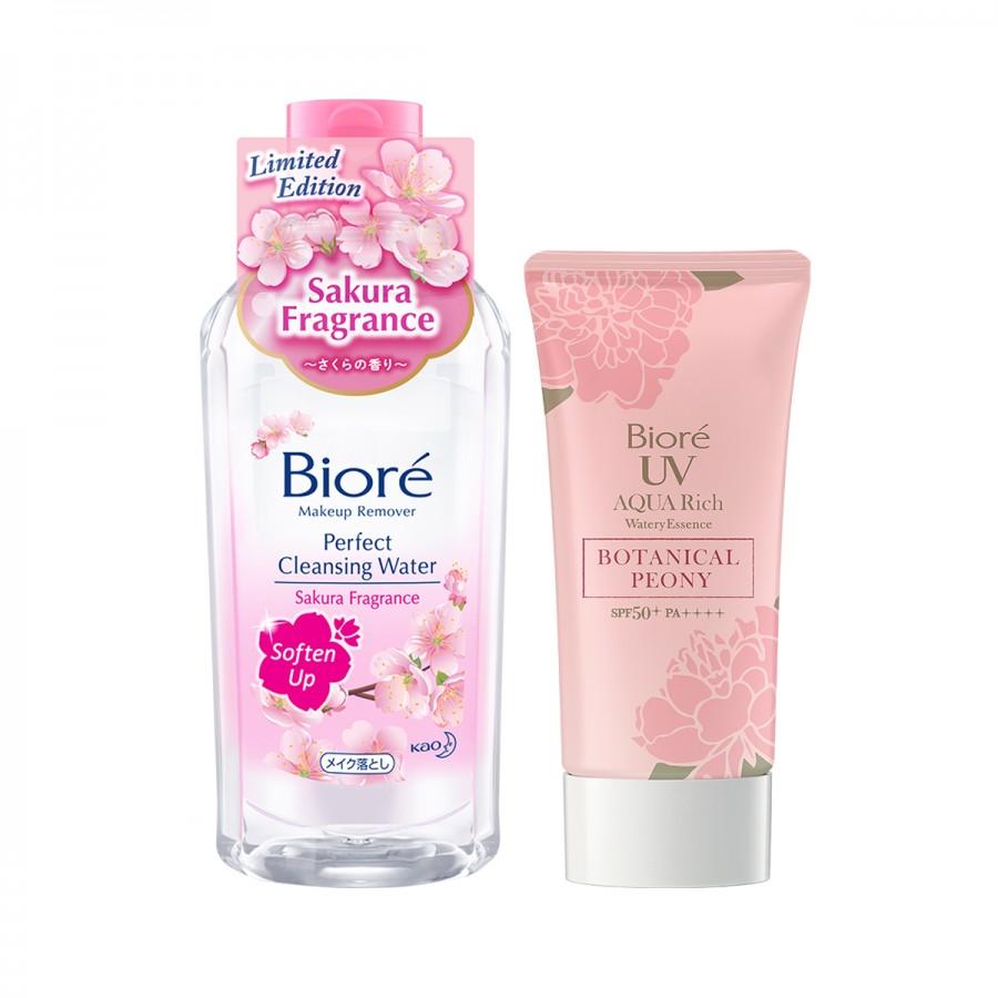 Biore UV Peony + Sakura Cleansing Water