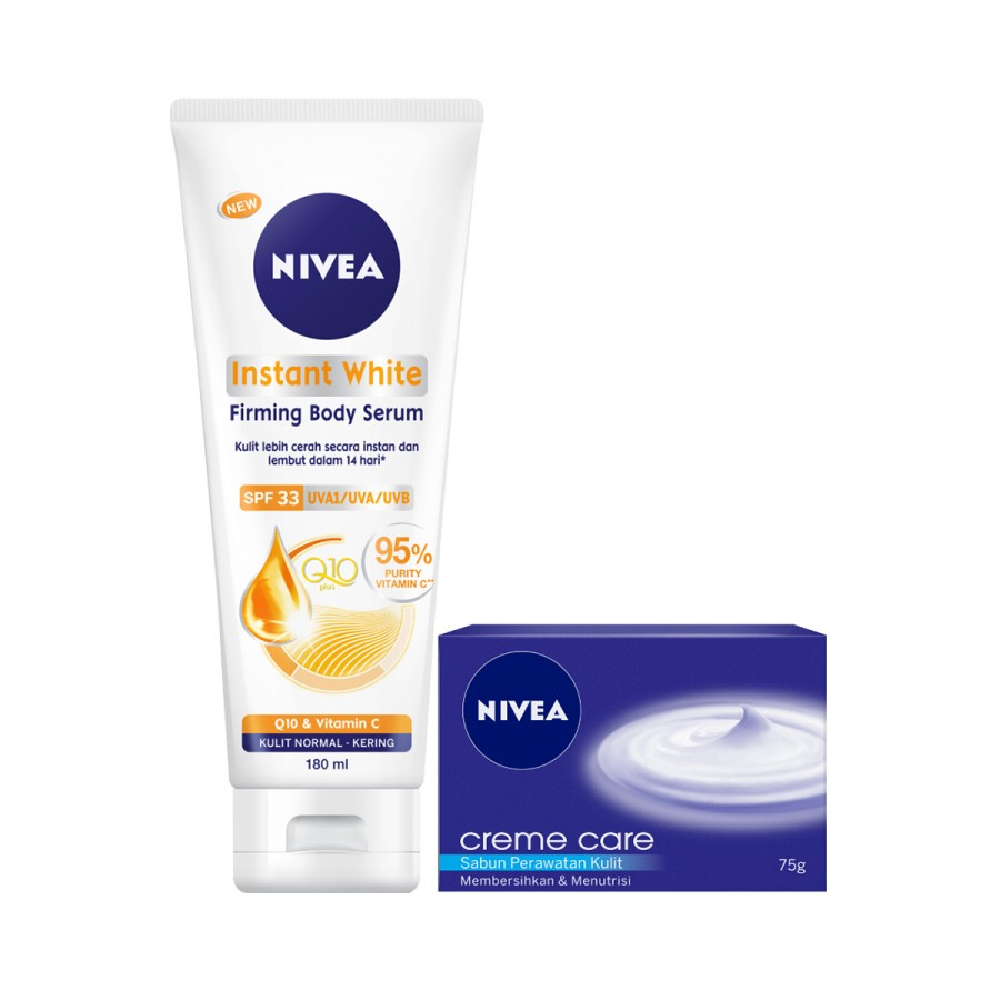 NIVEA Body Lotion & Soap Value Pack (Instant White)