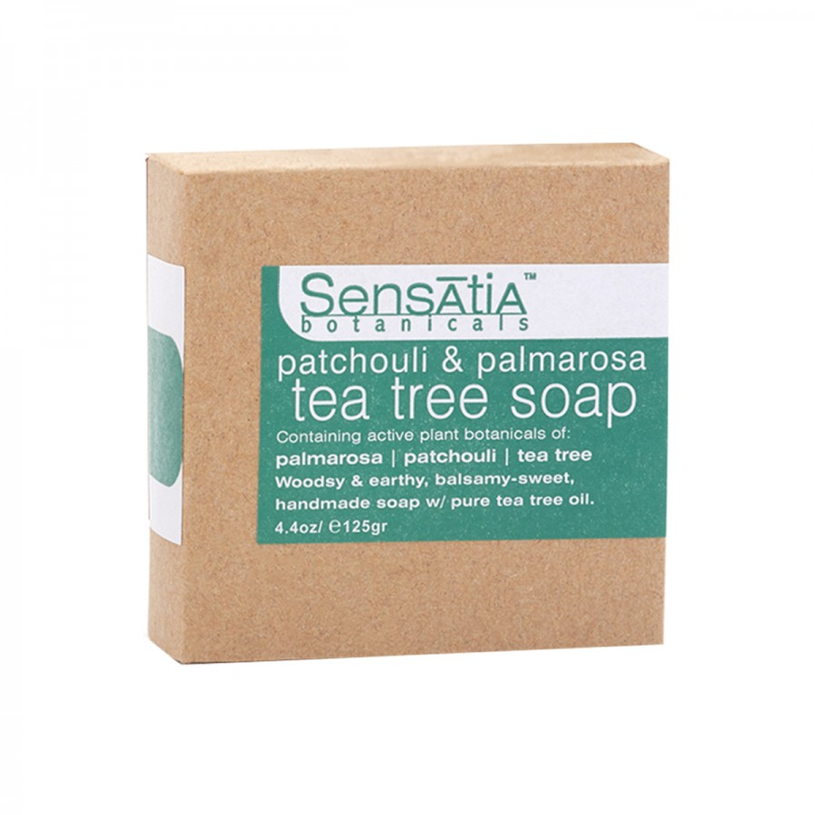 Patchouli & Palmarosa Tea Tree Soap - 125 gr