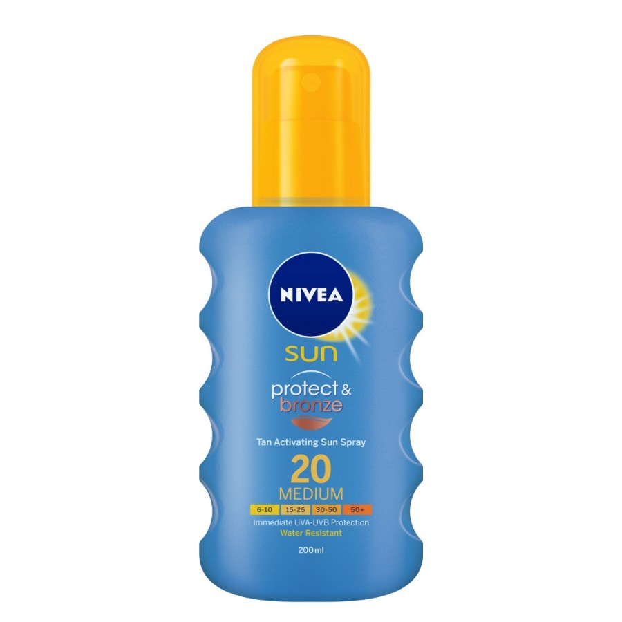 NIVEA Sun Spray Protect & Bronze Spf20 200 ml