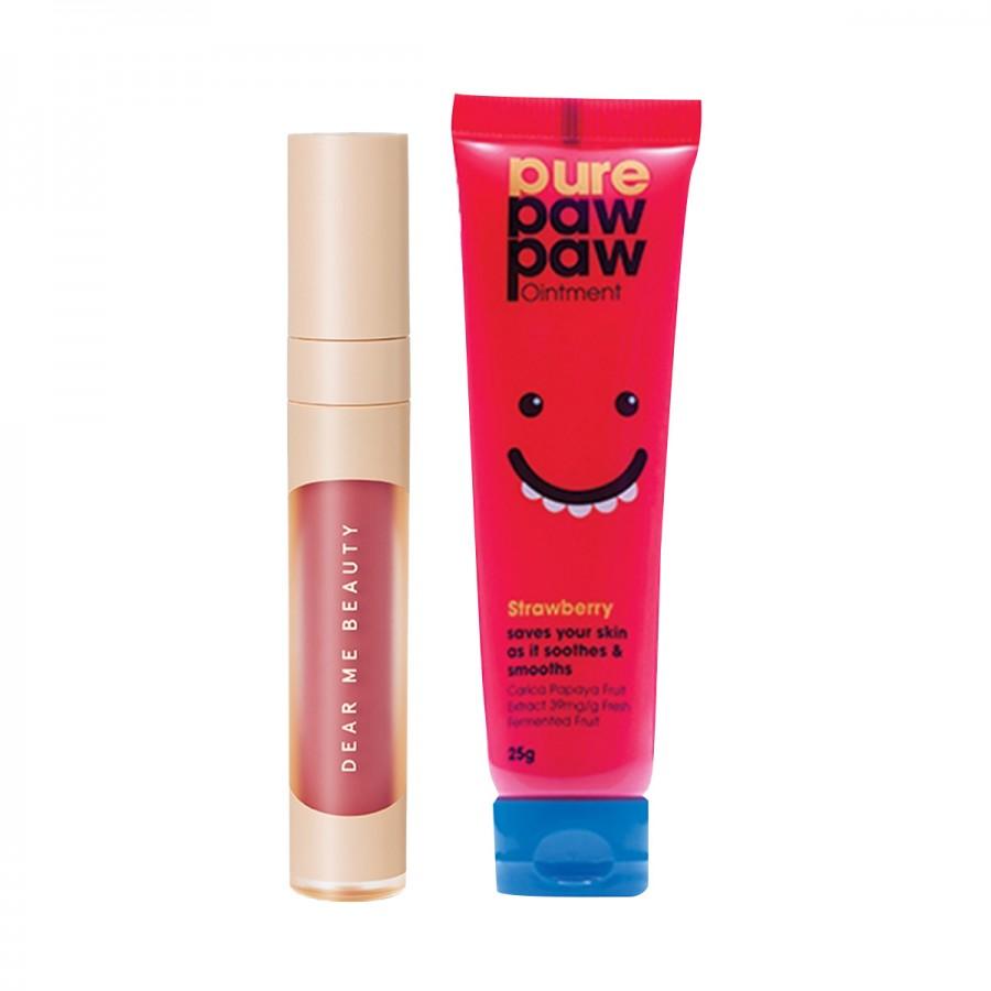 Pure Paw Paw Ointment x Dear Me 2-in-1 Velvet Veil Color (Plump-it Treat kit)