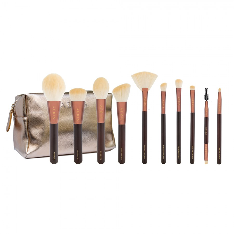 The Bronze Set 10 Pcs Premium Face & Eyes Collection