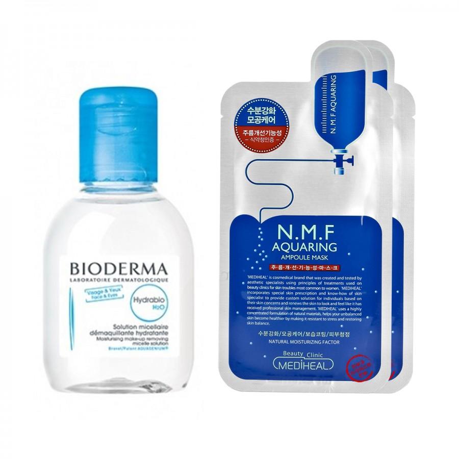 Bioderma x Mediheal - Dry Skin (Hydrabio 1, 2 mask)
