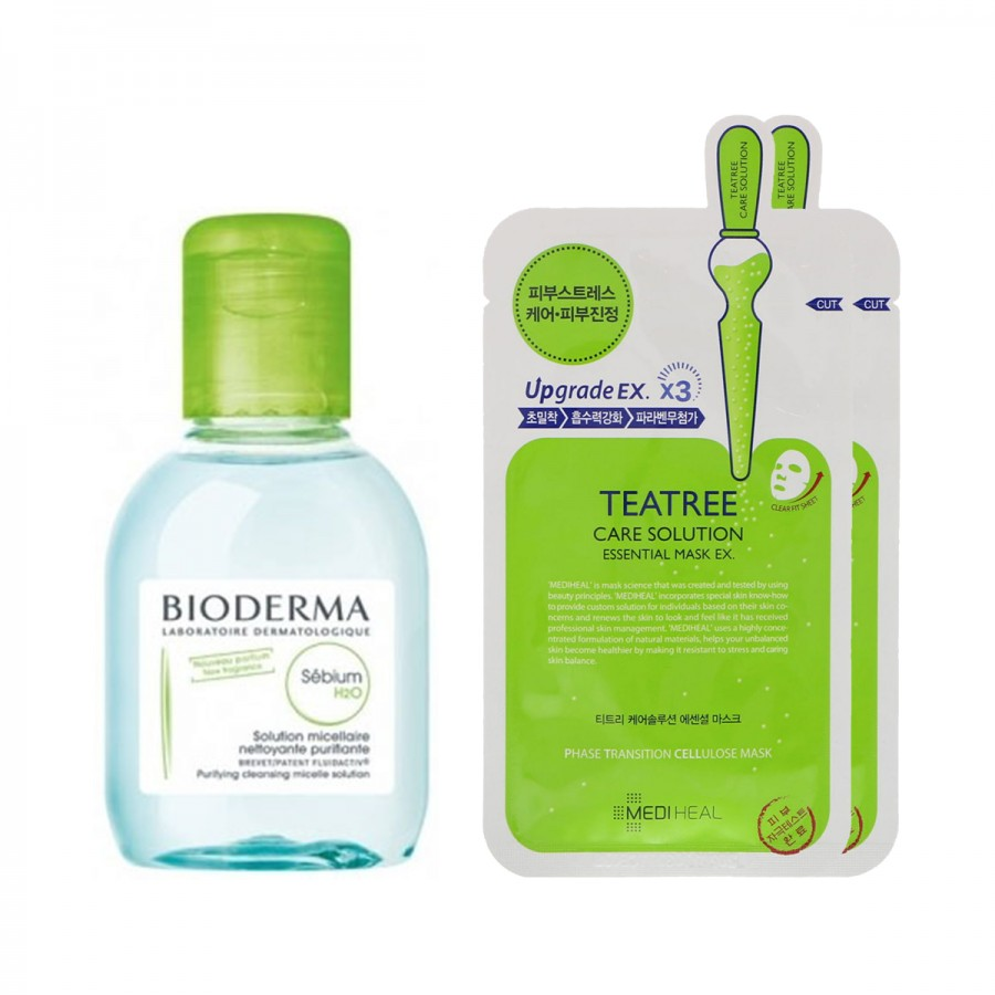 Bioderma x Mediheal - Oily Skin (Sebium 1, 2 mask)
