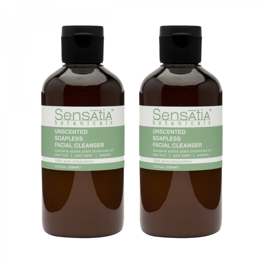Unscented Soapless Facial Cleanser Twin Pack