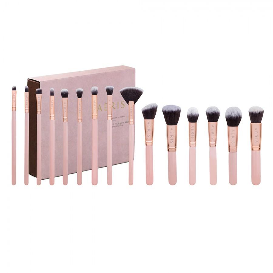 Coral 15 Face & Eye Brush Set