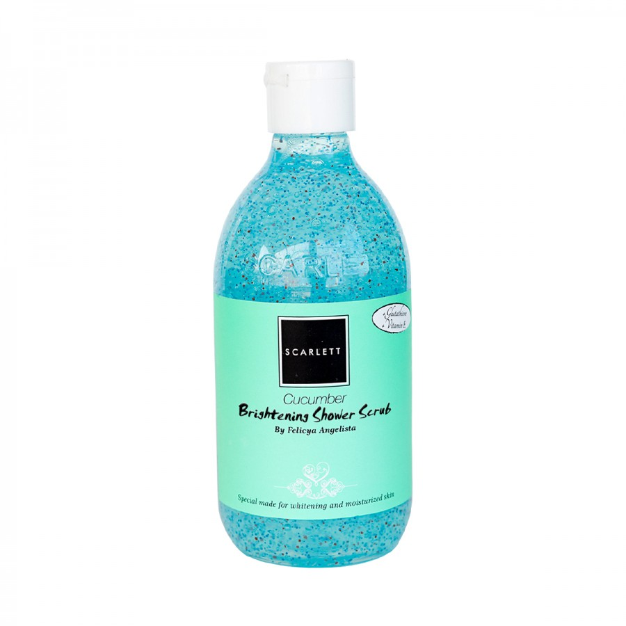 Scarlett Whitening Shower Scrub - Cucumber