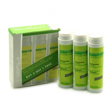 J.F. Lazartigue Deep Cleaning Shampoo Trio Set