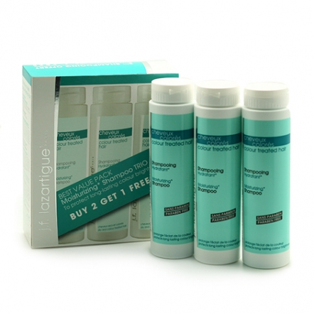 J.F. Lazartigue Moisturizing Shampoo Trio Set
