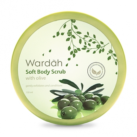 Wardah Soft Body Scrub with Olive 150 ml