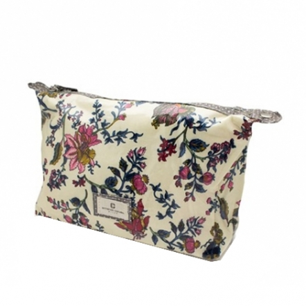 Olive Makeup Pouch - Beige