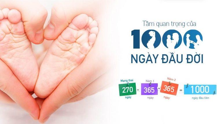 1000 ngày đầu đời – giai đoạn phát triển toàn diện tối đa của trẻ