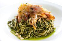 Prawn Spaghetti in Pesto Sauce