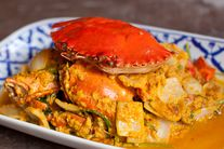 Curry & egg slices mud crab