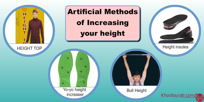 Artificial methods to increase height