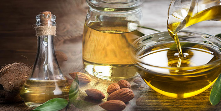Almond Oil, Coconut Oil and Olive Oil