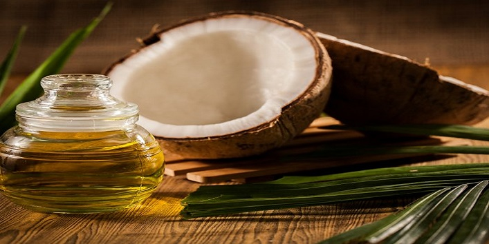 Coconut oil and sesame oil