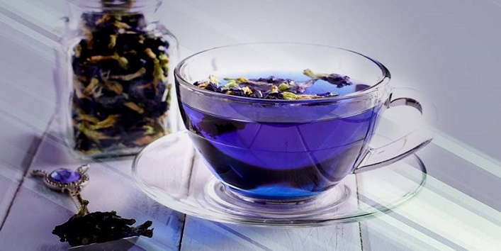 Health benefits of blue tea