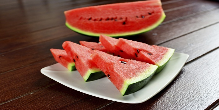 Honey and watermelon