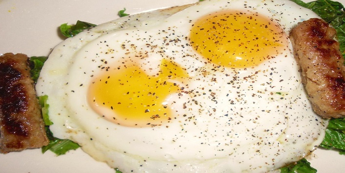 Black pepper and eggs