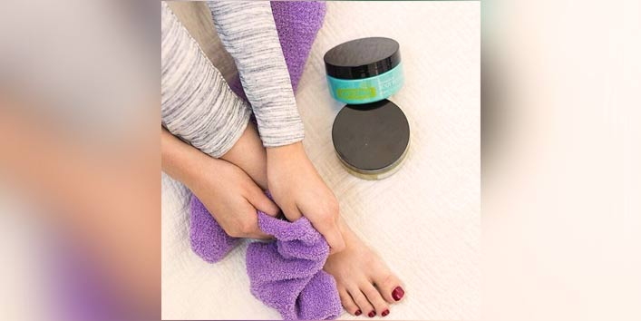 Body scrubber (One of the smartest ways to use old socks)